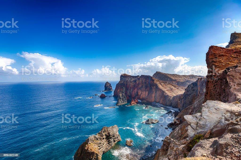 Ponta de São Lourenço • Madeira coastline zbiór zdjęć royalty-free