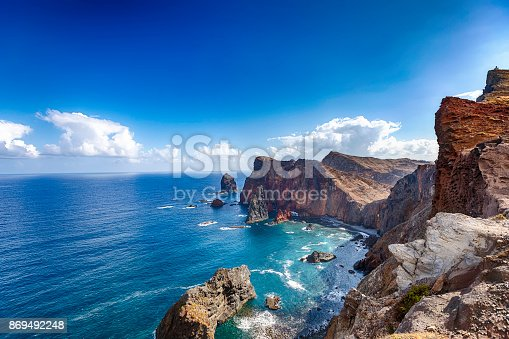 The peninsula located in the far east of the island of Madeira; Portugal