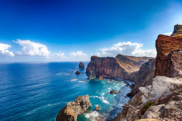 Ponta de São Lourenço • Madeira coastline The peninsula located in the far east of the island of Madeira; Portugal atlantic ocean stock pictures, royalty-free photos & images