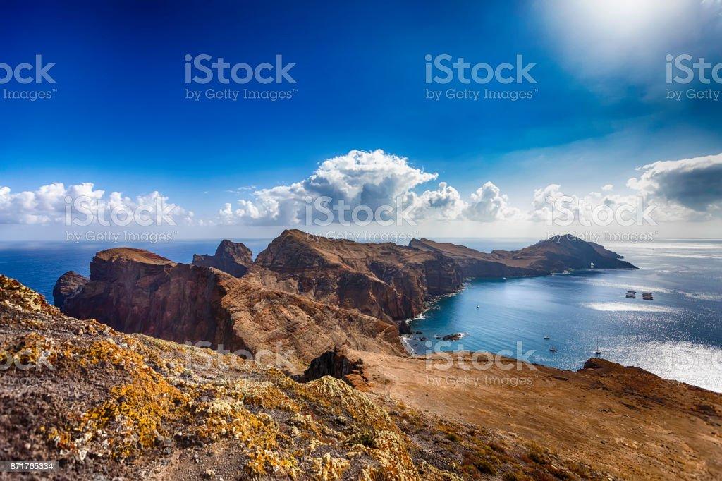 Ponta de São Lourenço • Madeira coastline stock photo