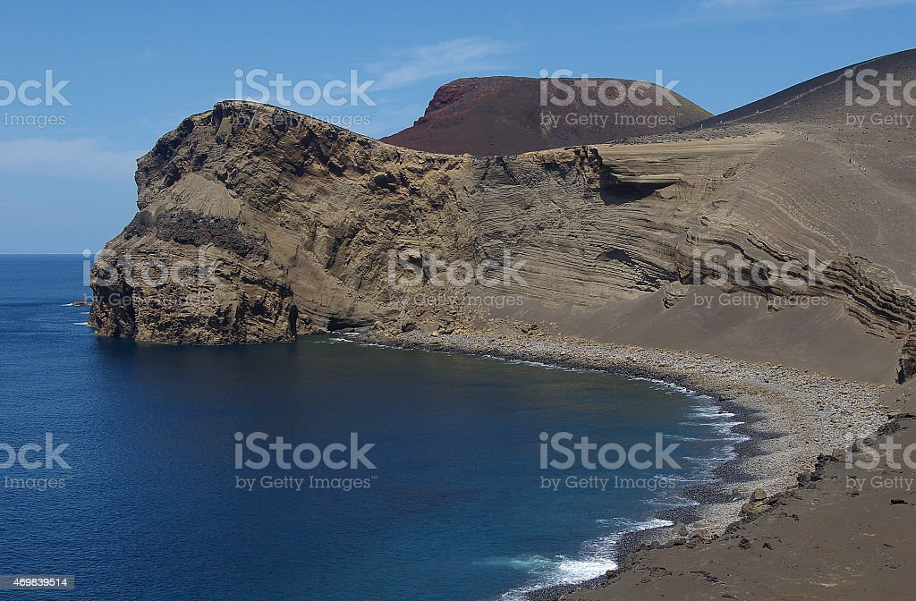 Ponta dos Capelinhos on the Island of Faial (Azores) stock photo