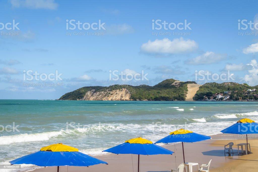 Ponta Negra Beach and Morro do Careca - Natal, Rio Grande do Norte, Brazil stock photo