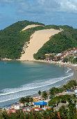 Ponta Negra beach and Morro do Careca, Natal, Rio Grande do Norte on August 14, 2003