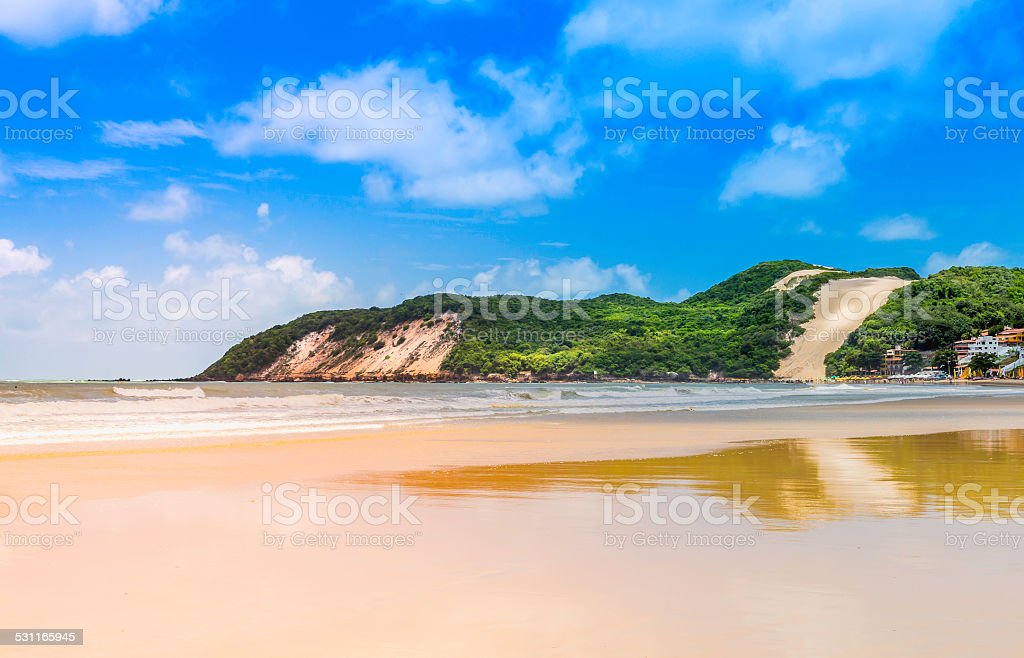 Ponta Negra dunes beach in city of Natal,  Brazil stock photo
