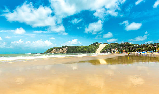 Ponta Negra dunes beach in Natal city,  Brazil stock photo