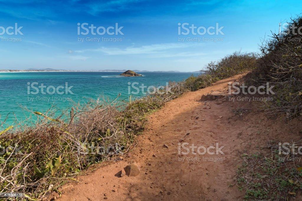Pontal beach in Arraial do Cabo, Rio de Janeiro, Brazil stock photo