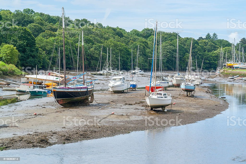 Pont-Aven in Brittany stock photo
