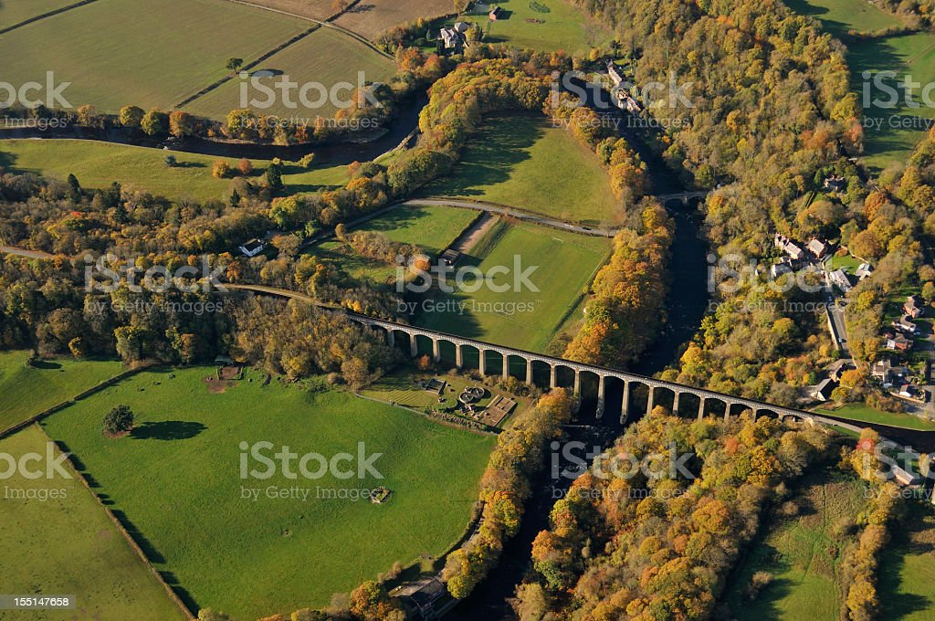Pontcysyllte Aqueduct from the air stock photo