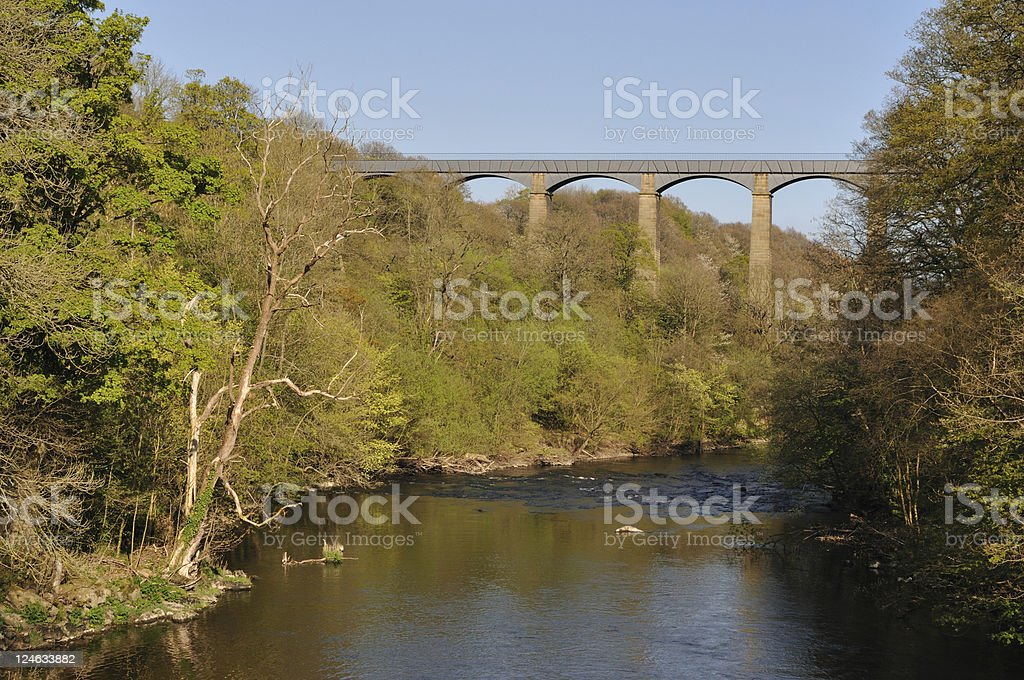 Pontcysyllte Aqueduct  in Spring royalty-free stock photo