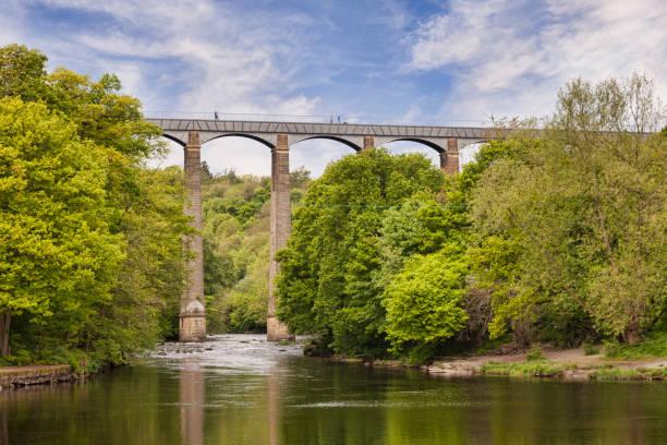Pontcysyllte Aqueduct, Llangollen, Wales, UK stock photo