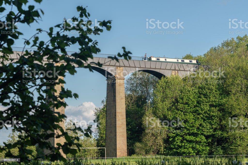 Pontcysyllte Aqueduct near Llangollen in Wales in spring - Royalty-free Aqueduct Stock Photo