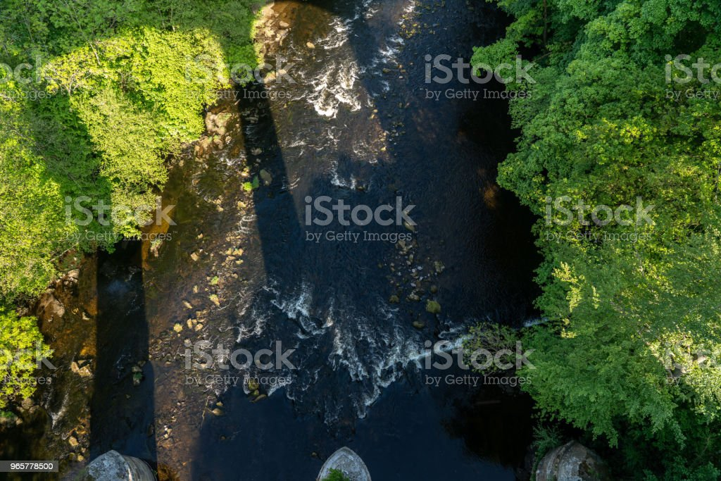 Pontcysyllte Aqueduct near Llangollen in Wales in spring - Royalty-free Aqueduct Stock Photo