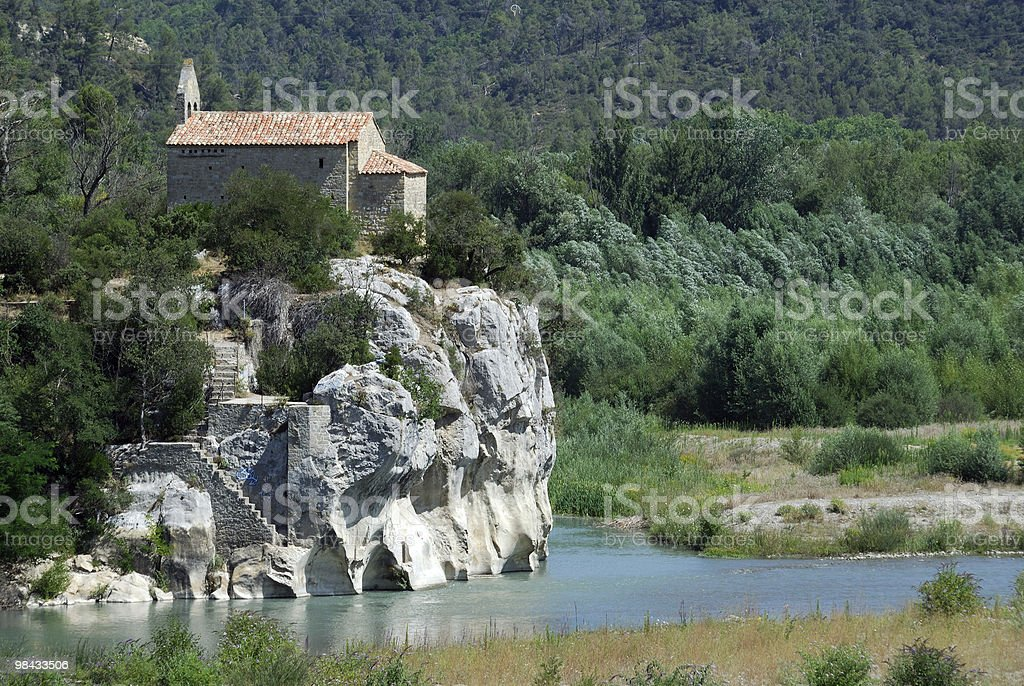 Pont-de-Mirabeau (Vaucluse, Provence, France) - Little church royalty-free stock photo