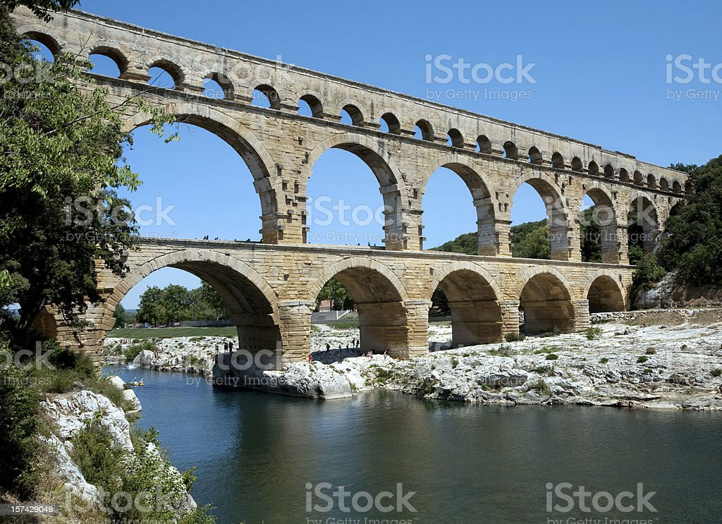 Pont-du-Gard near Nimes France stock photo