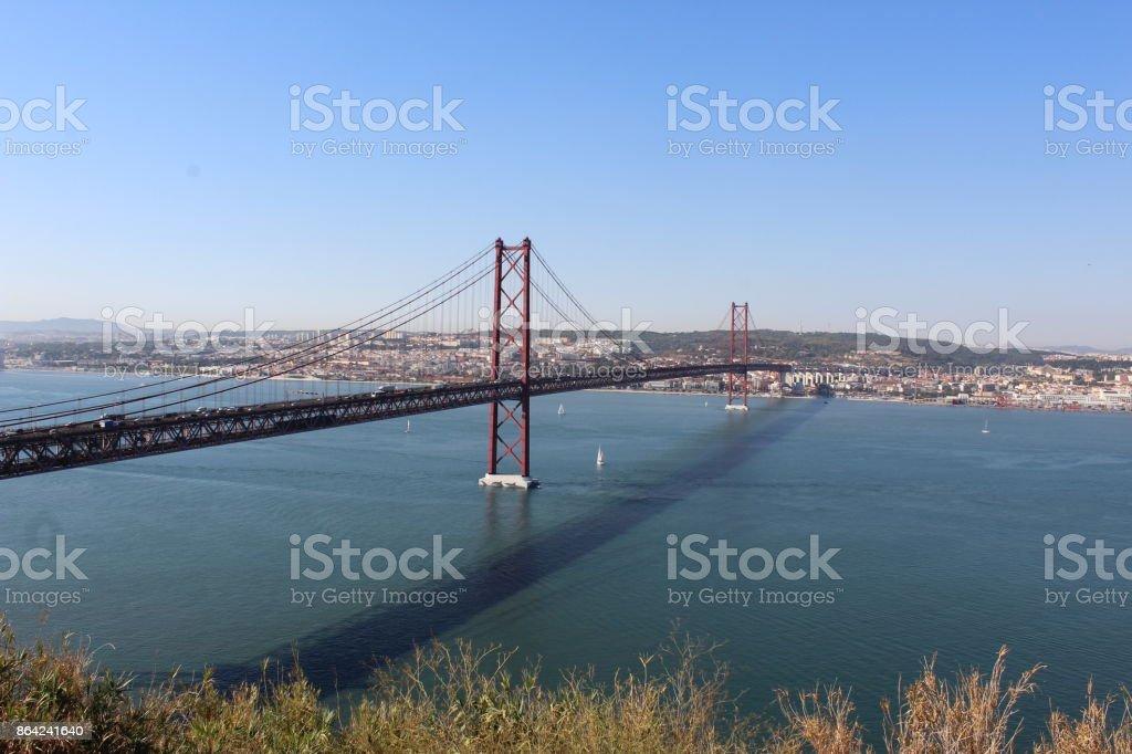 Ponte 25 de Abril royalty-free stock photo