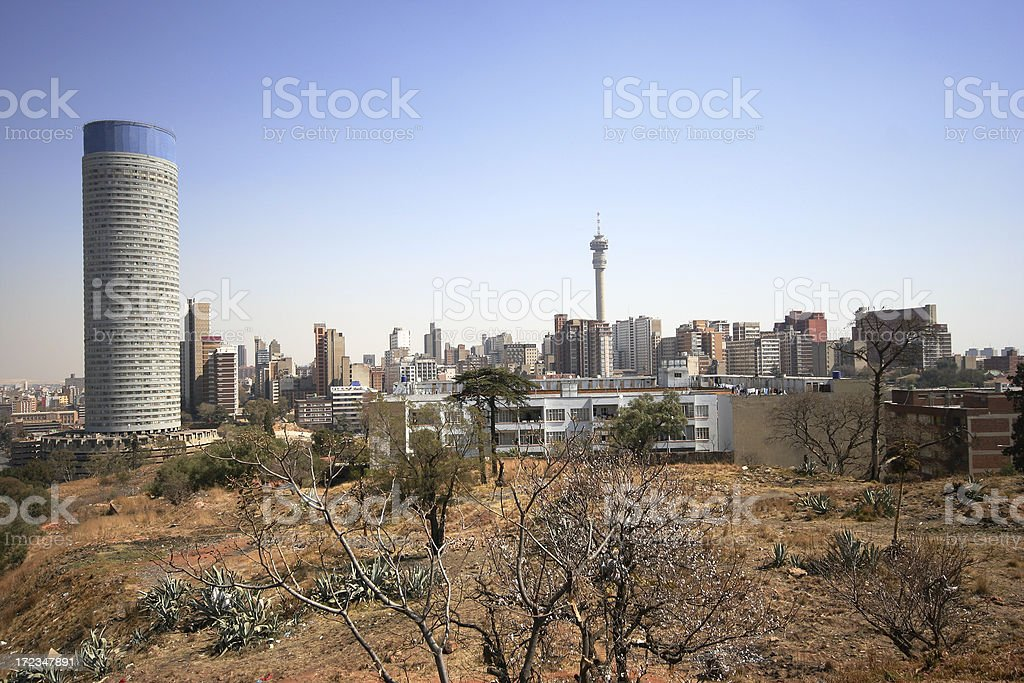 Ponte and Hillbrow, Johannesburg, South Africa royalty-free stock photo