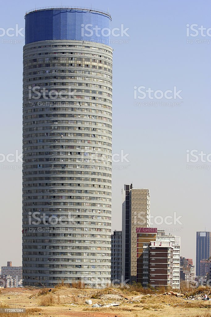 Ponte City Hillbrow, Johannesburg, South Africa royalty-free stock photo