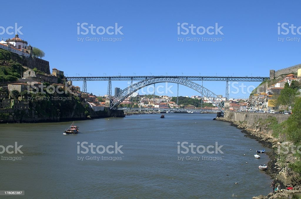Ponte D. Luis in Porto, Portugal royalty-free stock photo