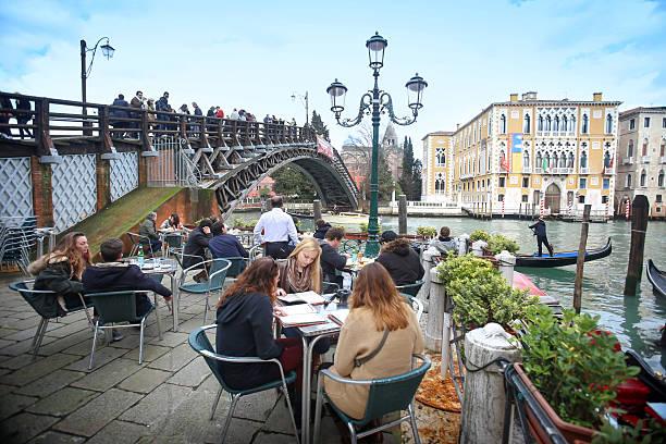 Ponte dell Academia in Venice stock photo