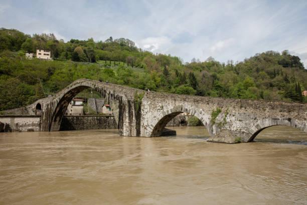 Ponte della Maddalena - Ponte del Diavolo stock photo