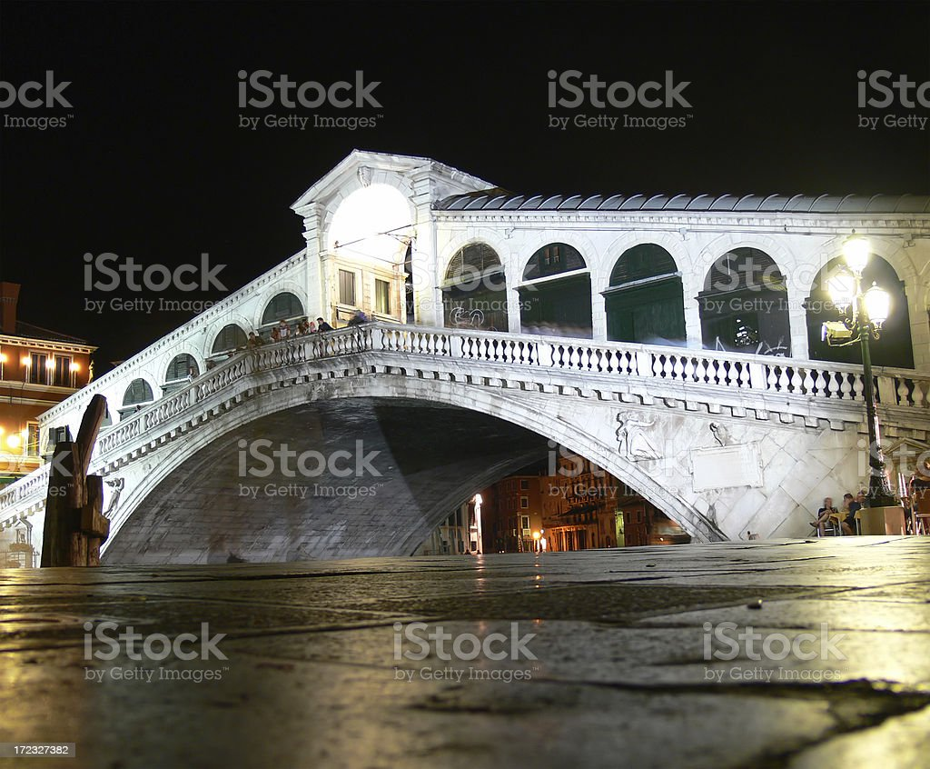 Ponte di Rialto at night royalty-free stock photo