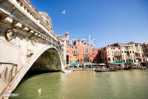 istock Ponte di Rialto bridge in Venice 458623941
