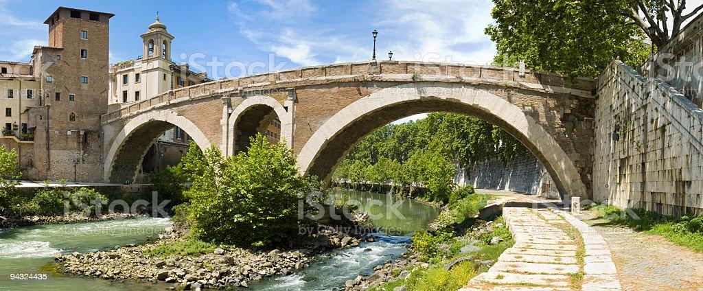 Ponte Fabricio, Rome stock photo