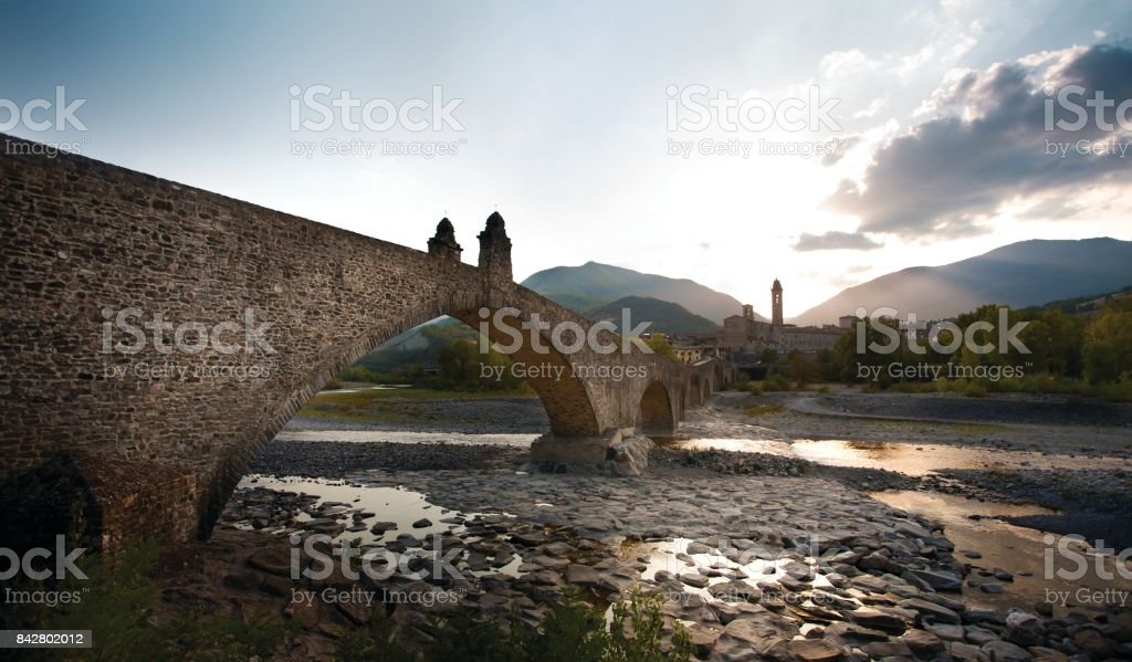 ponte gobbo stock photo