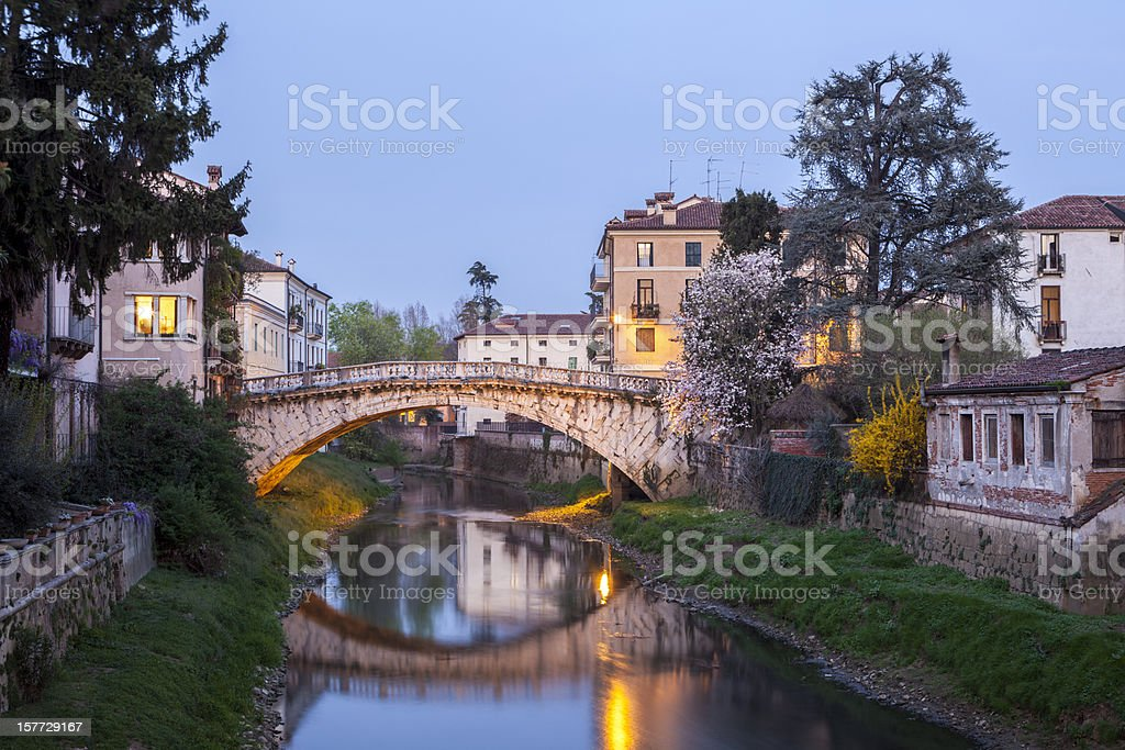 Ponte San Michele in Vicenza, Veneto Italy stock photo