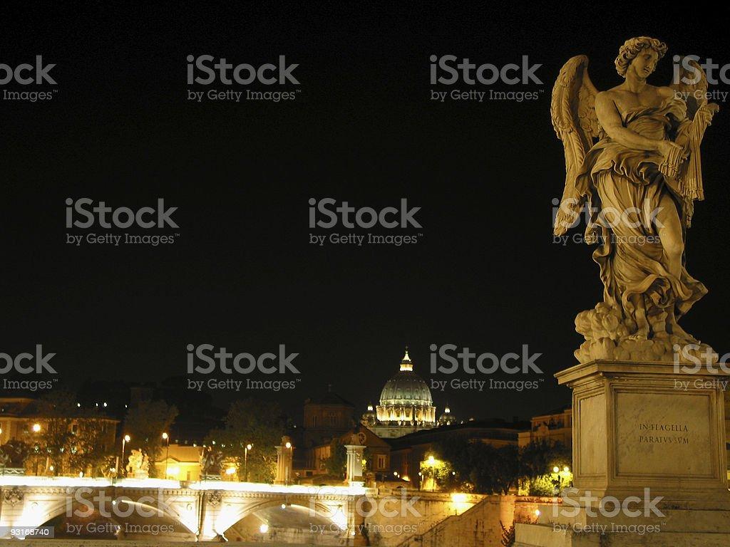 Ponte Sant' Angelo Night - Rome Series 1 royalty-free stock photo