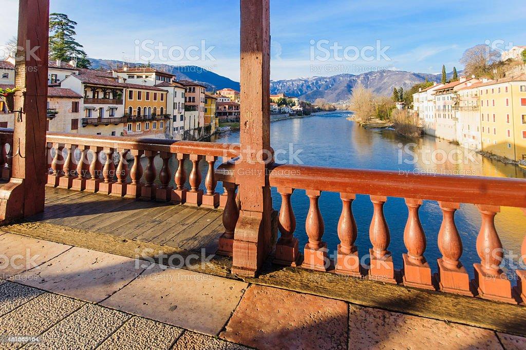 Ponte Vecchio, Bassano del Grappa - foto stock