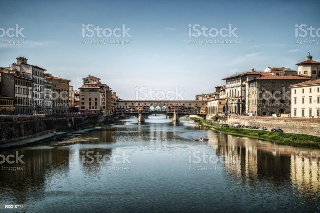 Ponte Vecchio Bridge in Florence - Italy zbiór zdjęć royalty-free