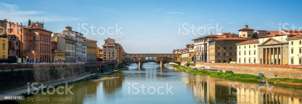 Ponte Vecchio Bridge in Florence - Italy royalty-free stock photo