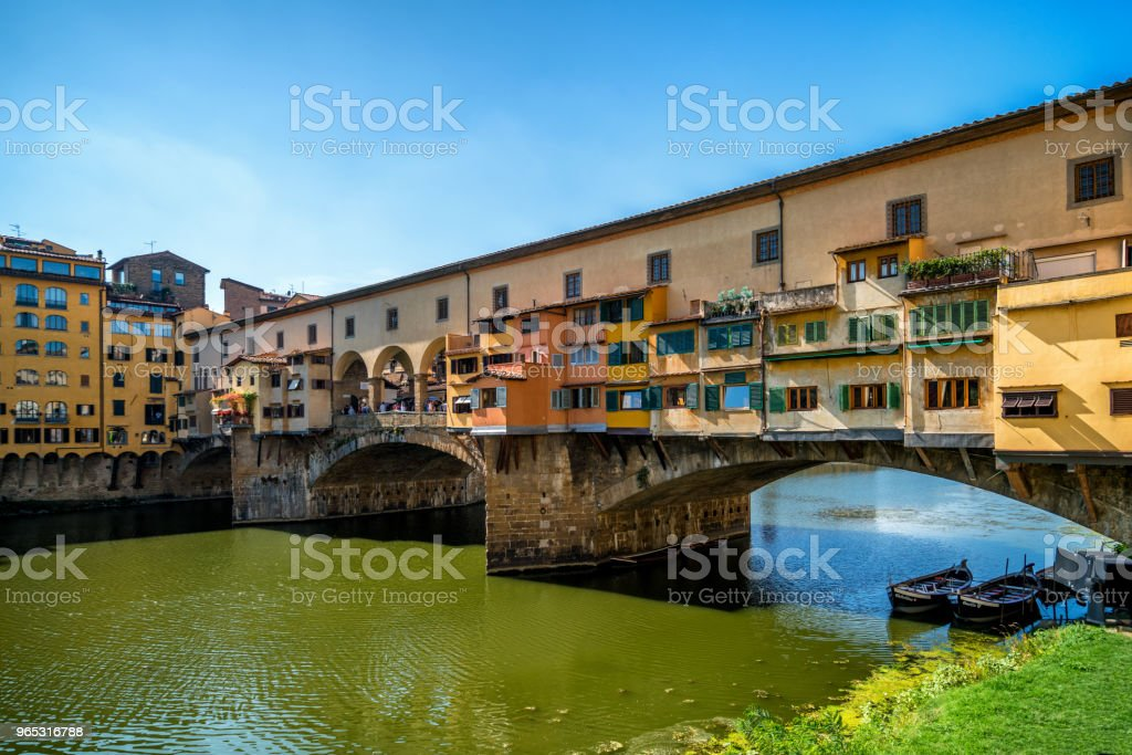 Ponte Vecchio Brücke in Florenz - Italien - Lizenzfrei Alt Stock-Foto