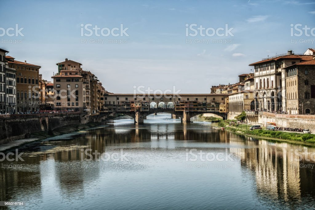 Ponte Vecchio Bridge in Florence - Italy royalty-free stock photo