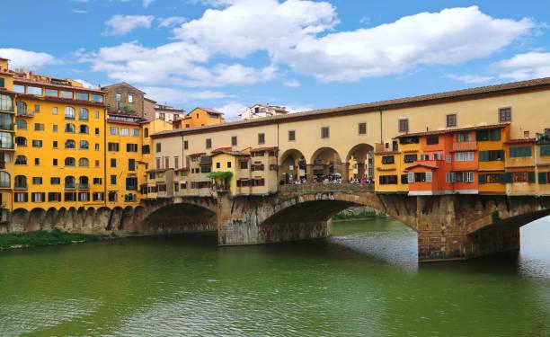 Ponte Vecchio bridge in Florence (Firenze), Tuscany, Italy stock photo