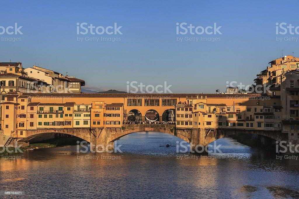 Ponte Vecchio Bridge, Italy stock photo
