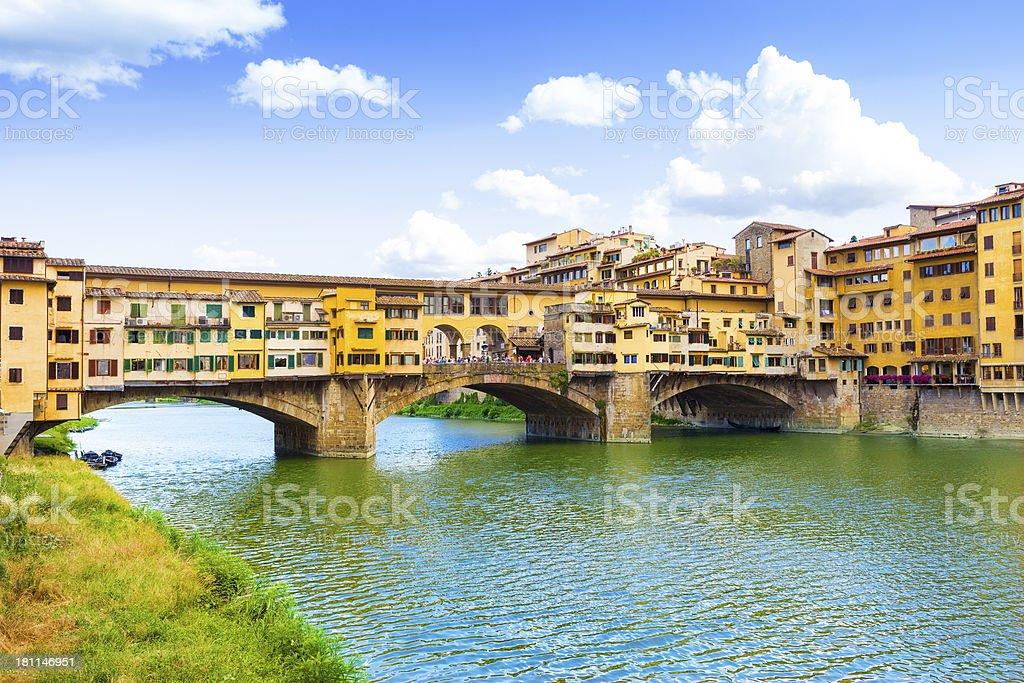 Ponte Vecchio bridge of Florence stock photo