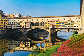 Ponte Vecchio old bridge in Florence, Tuscany, Italy