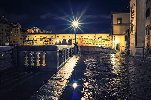 Ponte Vecchio in Florence by night