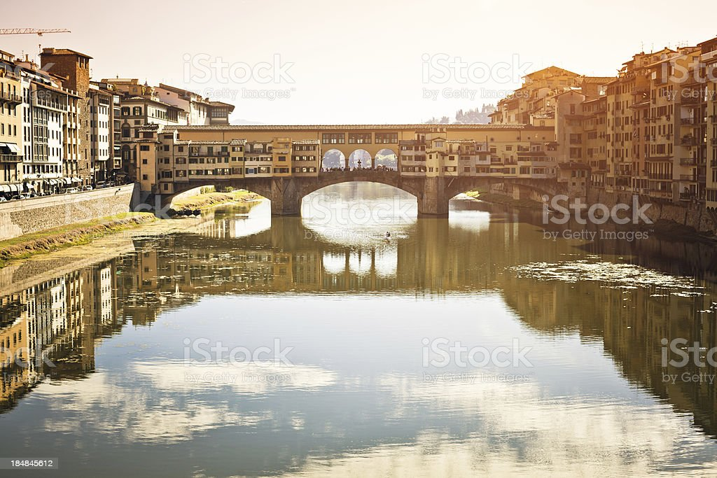 Ponte Vecchio in Florence, Italy Landmark stock photo