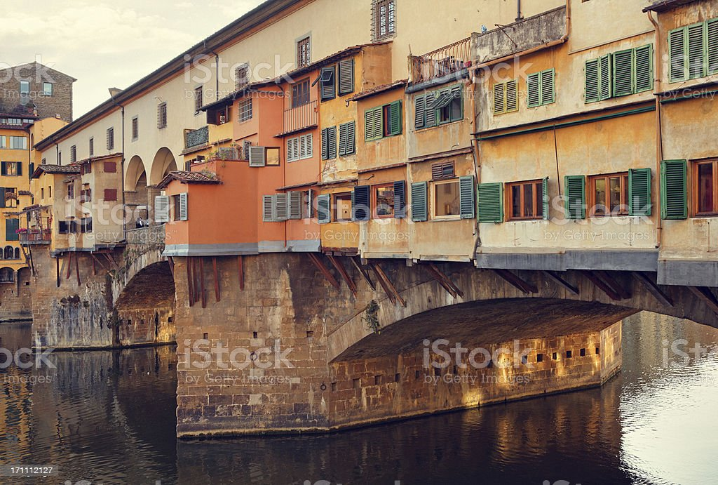 Ponte Vecchio in Florence stock photo