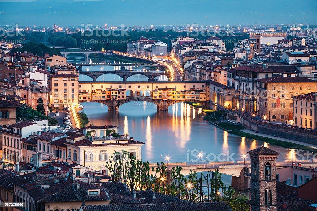 Ponte Vecchio In The Morning stock photo