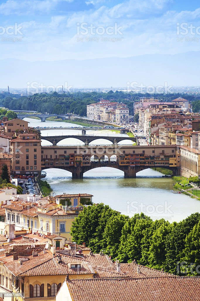 Ponte Vecchio in Tuscany stock photo