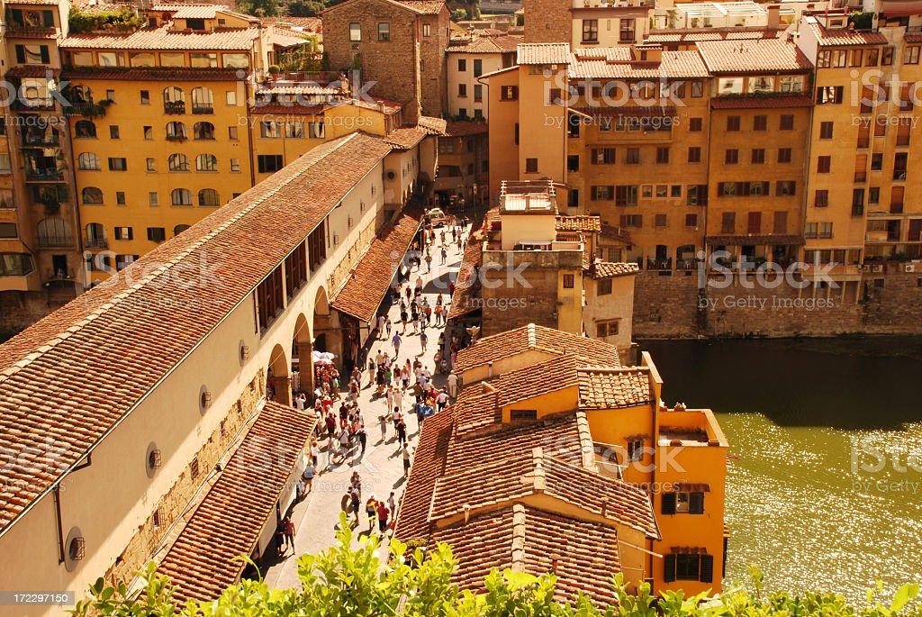 Ponte Vecchio shopping stock photo