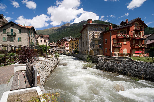 pontedilegno Ponte di Legno (Bs), Italy, the river Frigidolfo that runs throught the center of the country vail colorado stock pictures, royalty-free photos & images