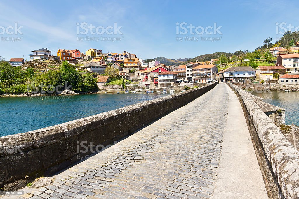 Pontesampaio bridge stock photo