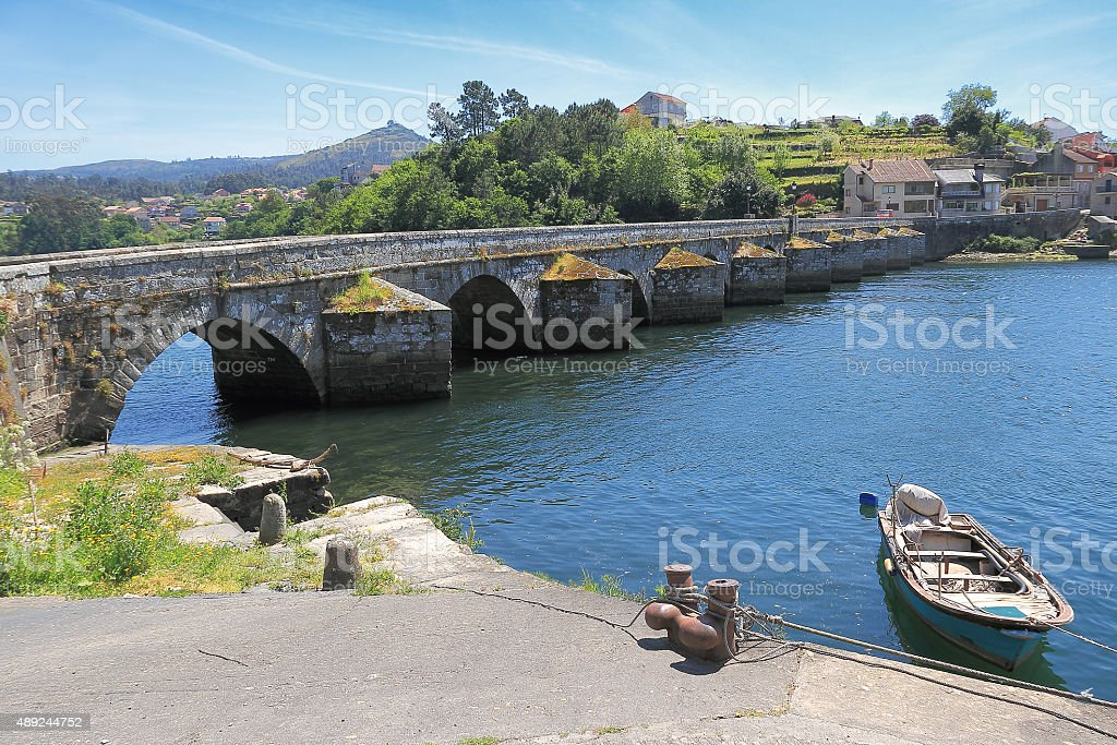 Pontesampayo bridge royalty-free stock photo