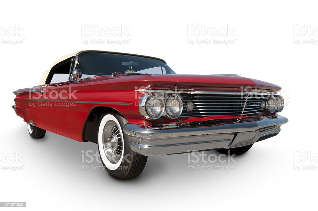 Pontiac Catalina 1960 with clipping path stock photo