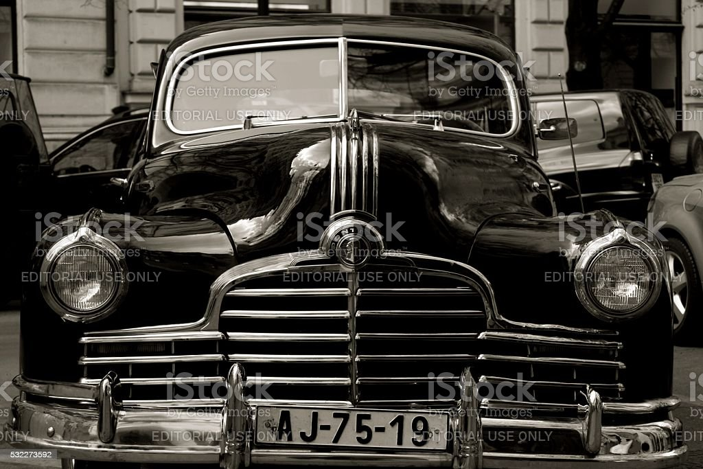 Pontiac Old Fashioned American Car Parked Stock Photo & More ...